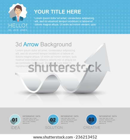 vector template email, online business card, flyer cover and the first page of the site - stock vector