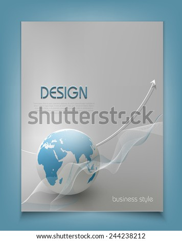 vector template for a business with a globe - stock vector