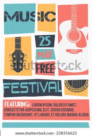 Vector Template Concert Poster Flyer Featuring Stock Vector