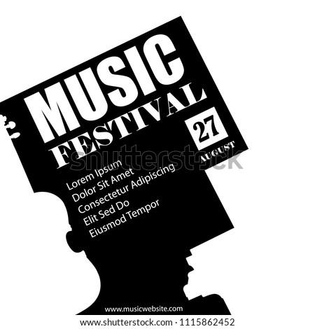 Vector Template Concert Poster Flyer Music Stock Vector 2018