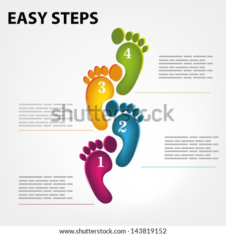 Vector template for a easy step by step brochure, web - stock vector
