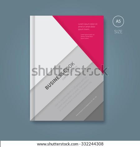 Vector Template Brochure Magenta Grey Color Stock Vector (Royalty ...