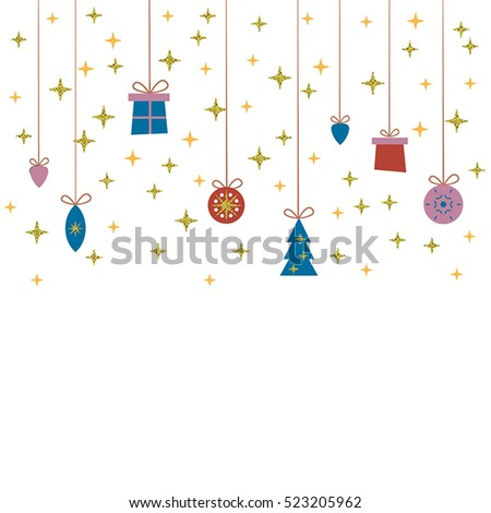 Vector template for Christmas cards, invitations, backgrounds and more with space for text.