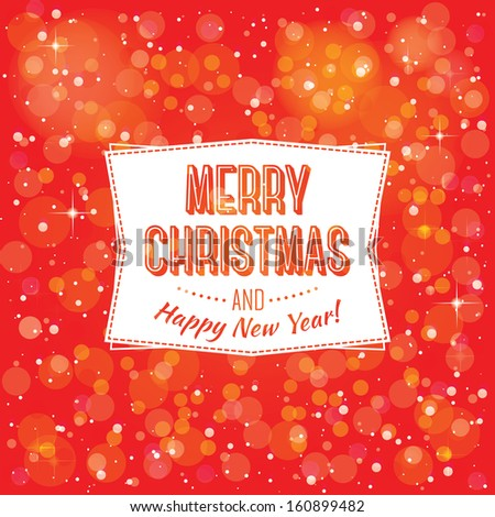 vector template for greetings Happy New Year and Merry Christmas