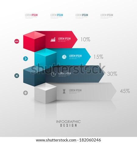 Vector template for infographic or web design - stock vector