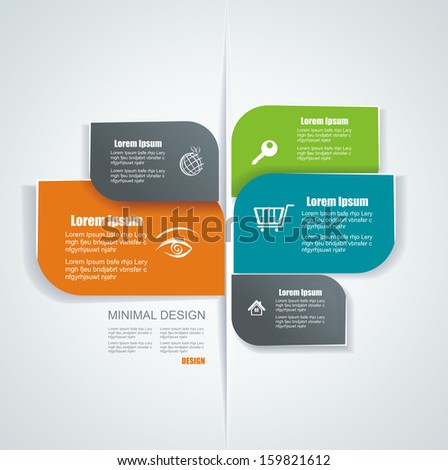 Vector template for interface or infographic ready to place for your content  - stock vector