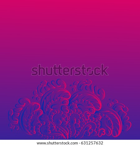 Vector Template Invitation Can Be Used Stock Vector 631257632