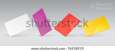 Vector template for plastic card presentation - stock vector