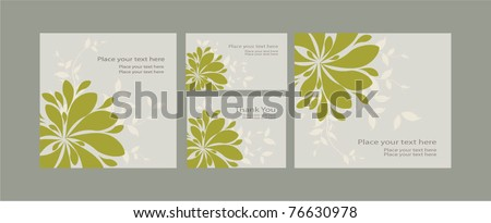 Vector Template invitations and greeting card , eps 10