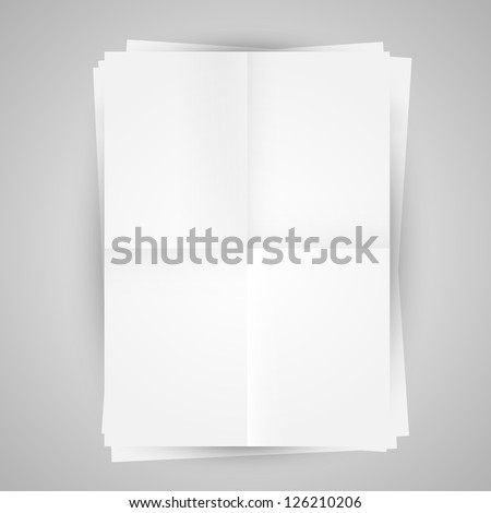 Vector template of a paper (poster, picture frame) - stock vector
