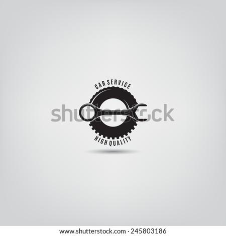 Vector template of car service logo. Logo template for your desing. - stock vector