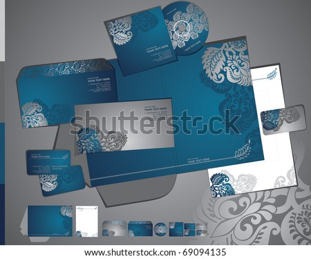 Vector template of identity set - stock vector