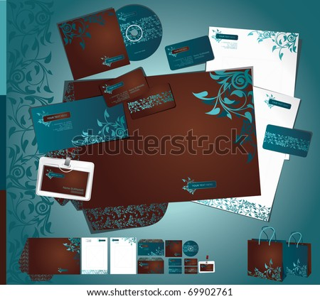 Vector template of identity set. - stock vector