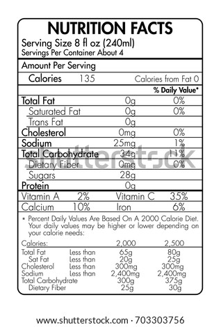 Fact stock images royalty free images vectors for Nutrition facts table template