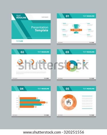 Business presentation template setpowerpoint template design stock vector template presentation slides background designfo graphs and charts slides designflat toneelgroepblik Gallery