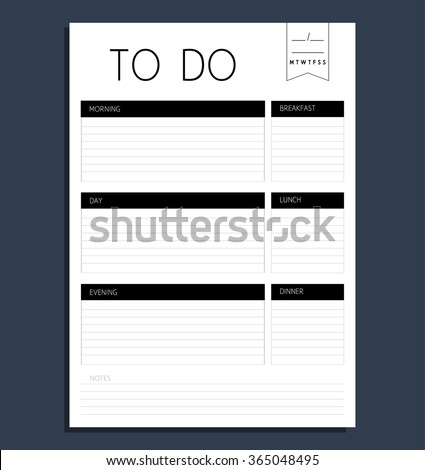 to do list form