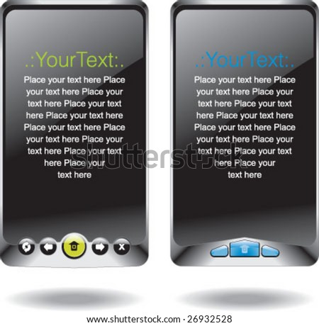 Vector template with mobile devices with place for text - stock vector