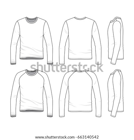 Vector Templates Clothing Set Front Back Stock Photo (Photo, Vector ...