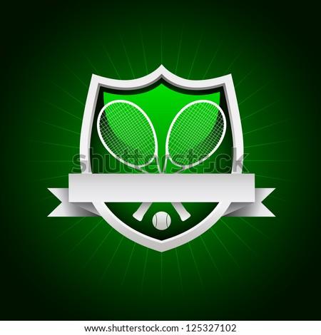 Vector tennis emblem, Eps8 - No transparency. - stock vector