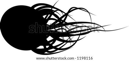 vector tentacle creature - stock vector