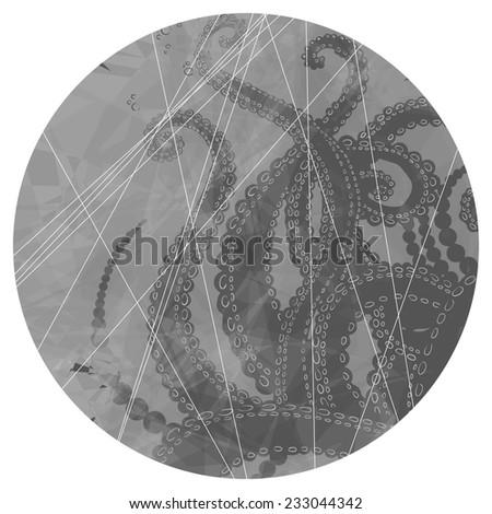 Vector Tentacles background - stock vector