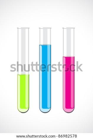 Vector test-tube - stock vector