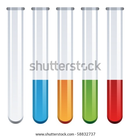 vector test tubes - stock vector