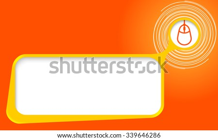 Vector text box for your text with spirals and mouse - stock vector