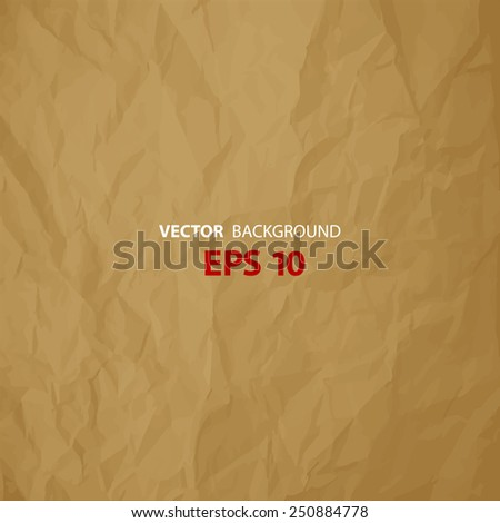 Vector Texture Of Crumpled Paper Brown Background Textured Wallpaper Use For Antique