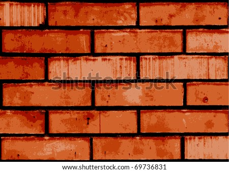 Vector texture of old brick wall