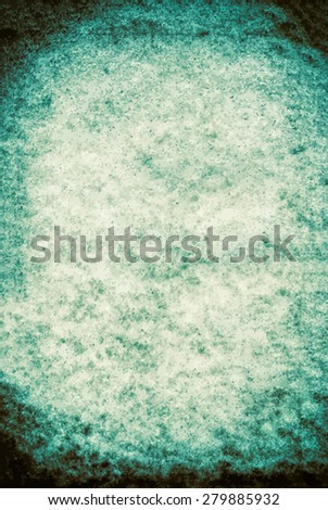 vector texture of the old cyan paper - stock vector