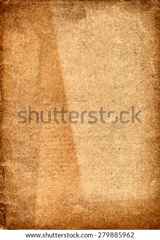 vector texture of the old grunge paper with three parts of varying degrees of faded  - stock vector