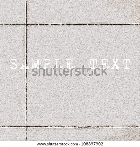 Vector texture of tiled ground - stock vector
