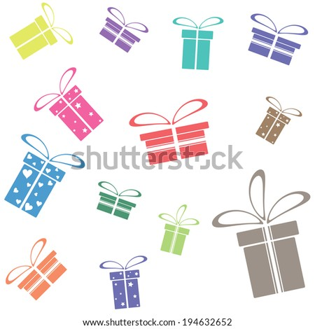 vector texture or background with gift wrap