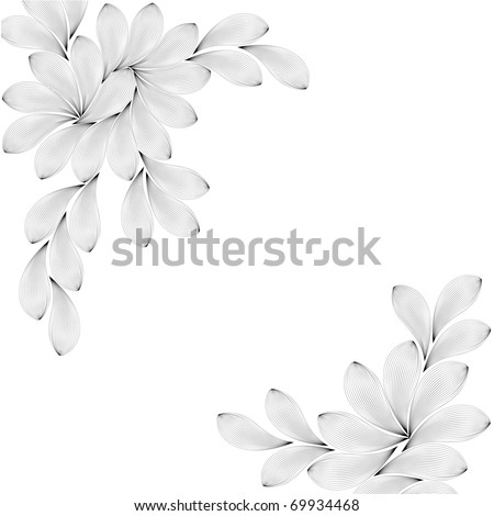 vector texture with flowers - stock vector