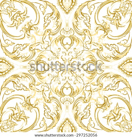 Vector thai floral decorative ornament. EPS illustration