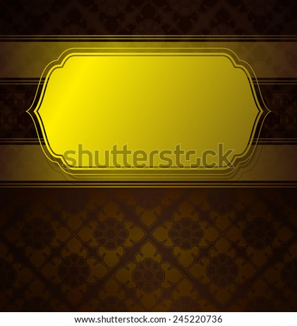 Vector Thai style frame and Seamless Background.