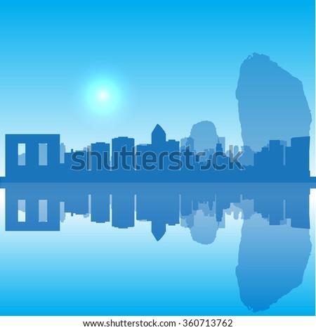 Vector Thailand silhouette skyline - stock vector