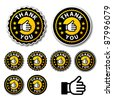 vector thank you circle labels - stock photo