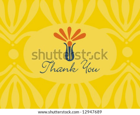 Vector thank you greeting card
