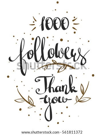 Vector thanks design template network friends stock vector royalty vector thanks design template for network friends and followers thank you 1000 followers card spiritdancerdesigns Images