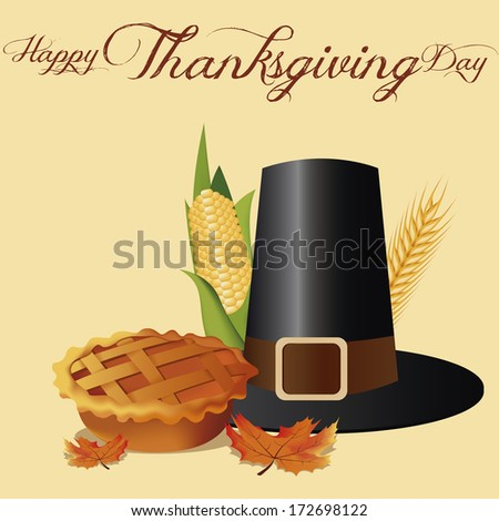 Vector Thanksgiving Day Related Elements Editable - stock vector
