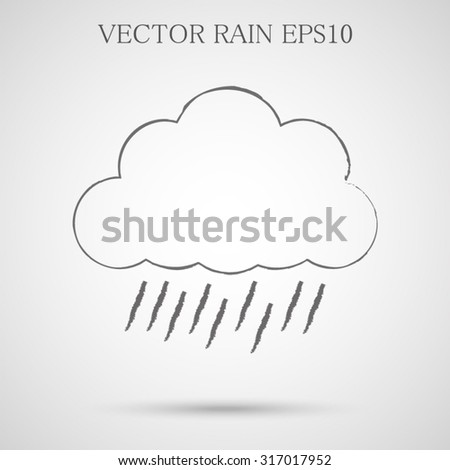 Vector. The sign - rain clouds, rain. Weather. - stock vector