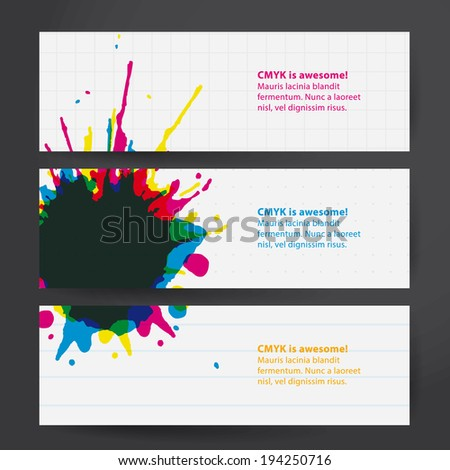 vector thematic template.  Aquarell drop on paper with place for your text. - stock vector