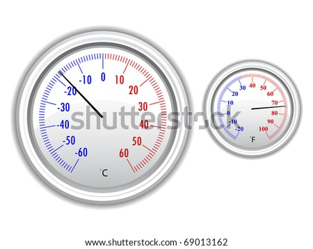 vector thermometer - stock vector