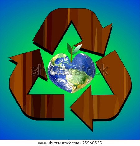 Vector Think Green Recycle Concepts - stock vector