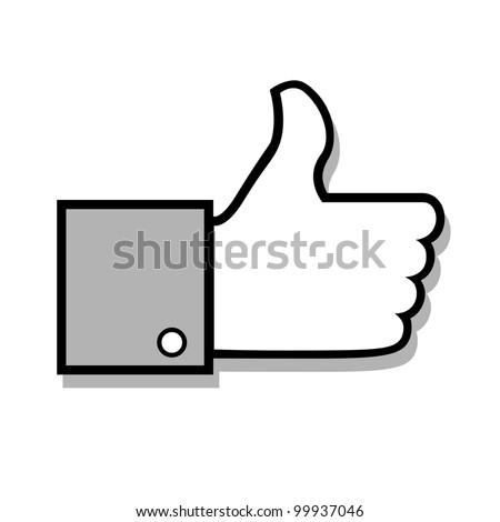 Vector thumb up - stock vector