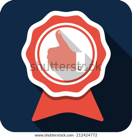 Vector Thumb Up Gesture - Best Choice Labels  - stock vector