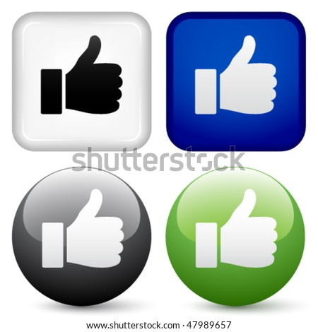 vector thumbs up buttons - stock vector