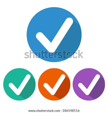 Vector Tick Icon - stock vector